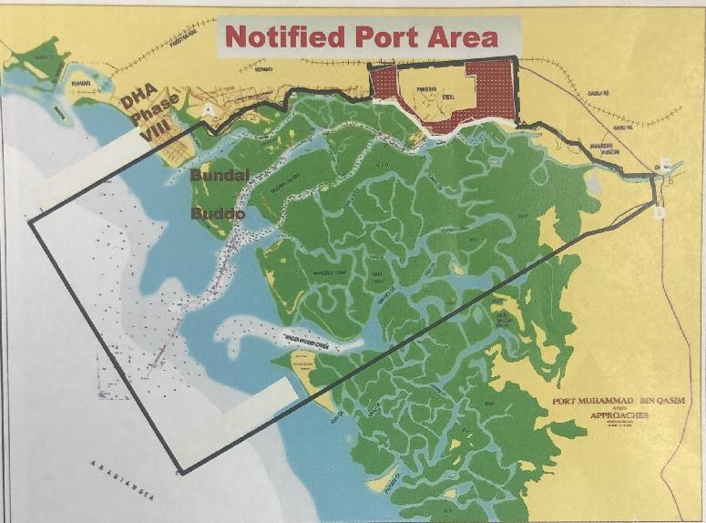ali zaidi claims islands near karachi s coast fall in the jurisdiction of port qasim authority photo twitter alihzaidipti
