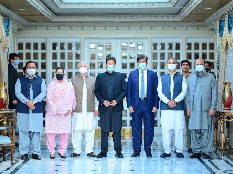 the cci meeting was attended by the four chief ministers and federal ministers photo express