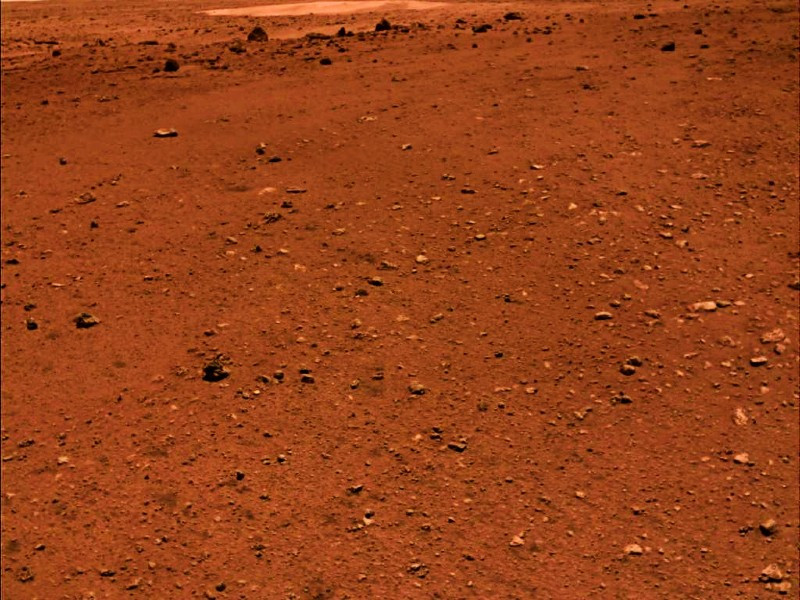 Photo released on June 11, 2021 by the China National Space Administration (CNSA) shows the Martian landscape. PHOTO: XINHUA