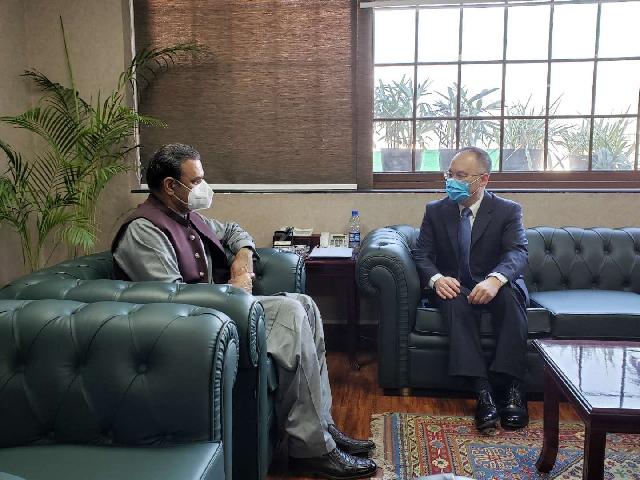 chinese ambassador to pakistan nong rong meets cpec authority chairman asim saleem bajwa photo twitter ambnong