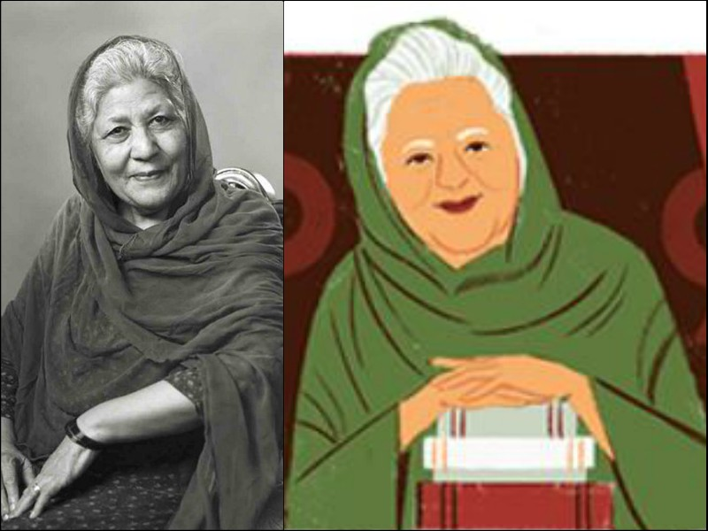 google doodle pays homage to bano qudsia on her 92nd birth anniversary