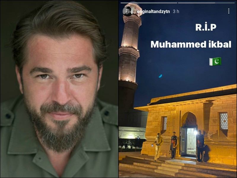 dirili ertu rul star visits shrine of allama iqbal badshahi mosque