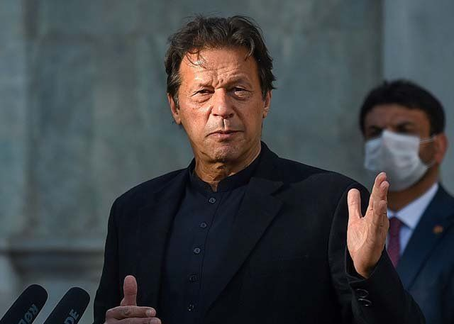 pm imran khan speaks during a press conference in kabul photo afp file