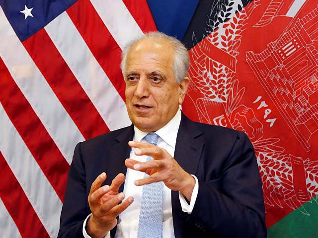 the us special envoy for afghanistan zalmay khalilzad during an interview photo reuters