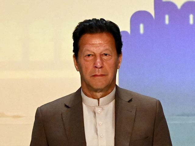 imran khan looks on during a trade and investments conference in colombo on february 24 2021 photo afp