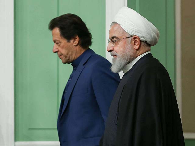 president hassan rouhani and prime minister imran khan during a joint press conference in tehran photo afp