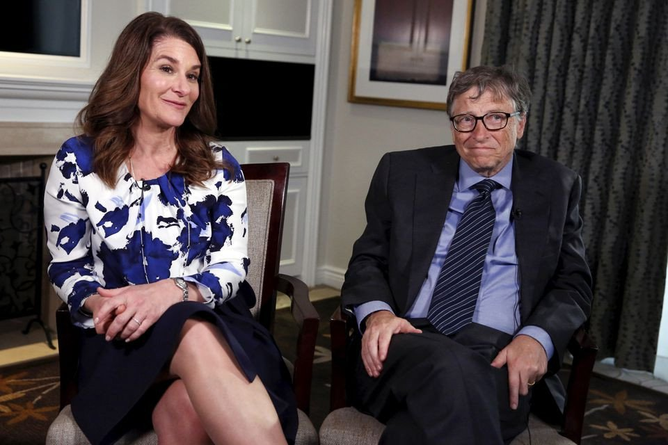 microsoft co founder bill gates and his wife melinda sit during an interview in new york february 22 2016 reuters