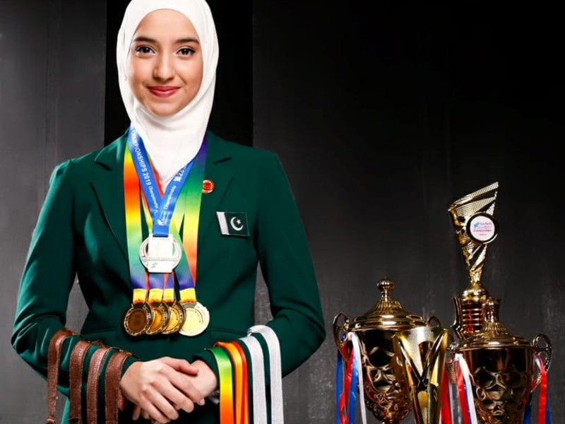 emma alam is a dedicated young girl from pakistan and has competed in various memory championships photo express