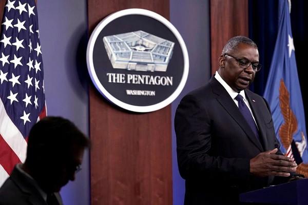 US Defense Secretary Lloyd Austin speaks at a news briefing at Pentagon in Arlington, Virginia, U.S., August 18, 2021. PHOTO: REUTERS