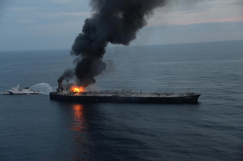Indian Oil-chartered tanker catches fire off Sri Lanka