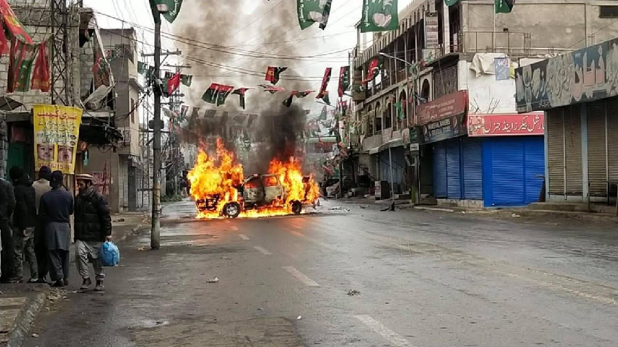 Protest sparked by G-B poll rigging claims turns violent