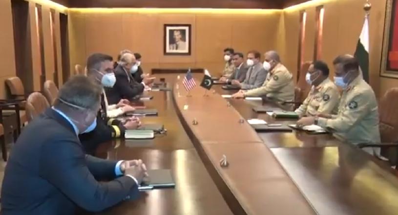 a us delegation headed by us special envoy zalmay khalilzad called on army chief general qamar javed bjawa at general headquarter in rawalpindi screengrab