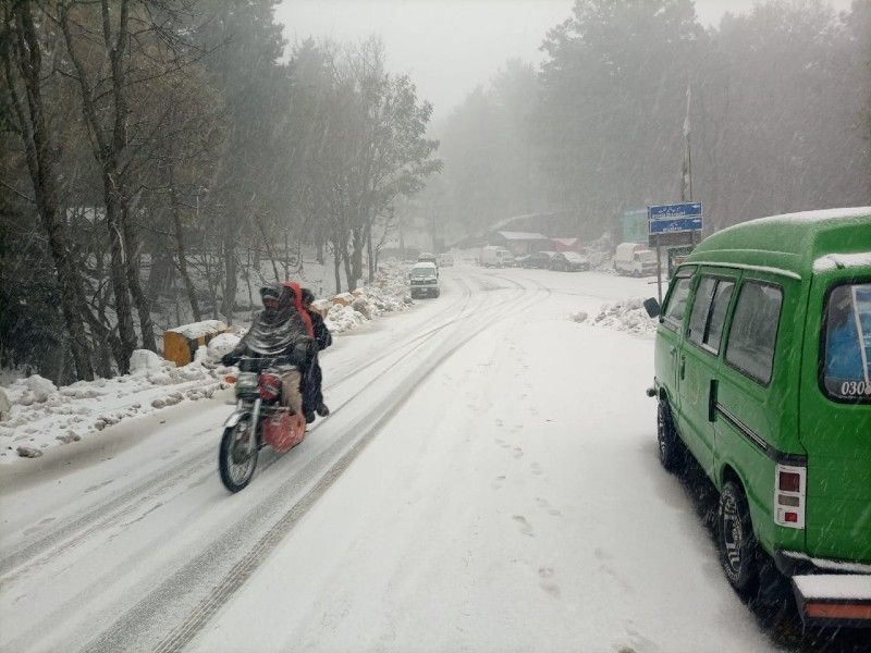 galyat pummelled by another spell of snow