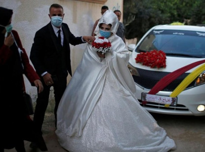 in crowded gaza public embraces mask wearing to fight covid 19