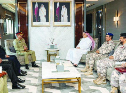 gen nadeem raza discusses kashmir dispute with qatar s military leadership