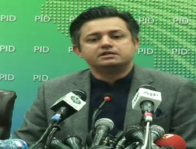 minister for industries hammad azhar addresses a presser in islamabad on february 26 2021 screengrab