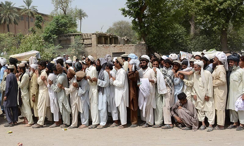 n waziristan idps without food package for 3 months