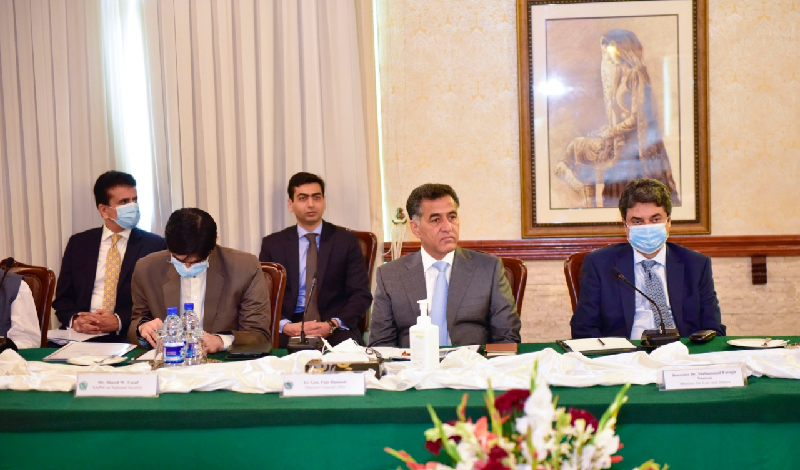 isi dg lt gen faiz hameed attends apc at foreign office in islamabad photo express