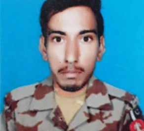 Lance Naik Javed Karim embraced martyrdom in the attack. PHOTO: ISPR