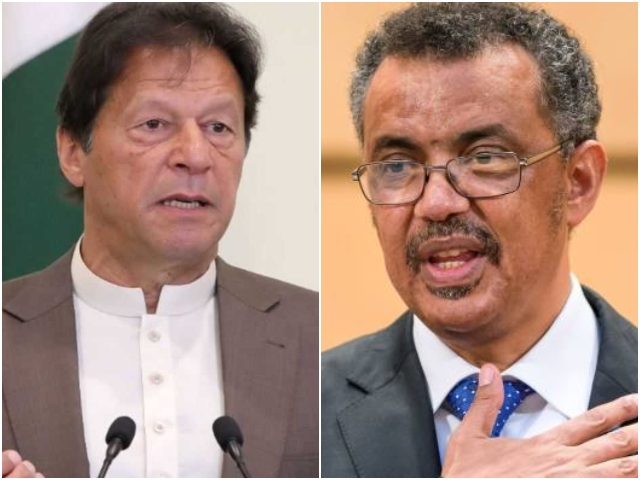 Prime Minister Imran Khan held a video conference with WHO Director General Dr Tedros Adhanom. PHOTO: FILE