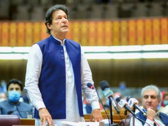 prime minister imran khan making a speech during a session in national assembly photo afp file