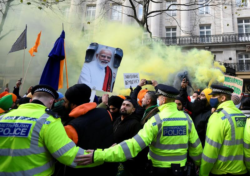 thousands protest in london against india s farming reforms