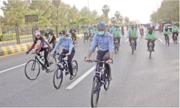 fast and fabulous headed by asp amna baig the bicycle squad of the capital police is all set to catch criminals and improve community policing in the kohsar police station area photo express