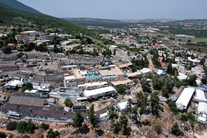 A view of Mount Meron where fatalities were reported among the thousands of ultra-Orthodox Jews, who gathered at the tomb of a 2nd-century sage for annual commemorations that include all-night prayer and dance.