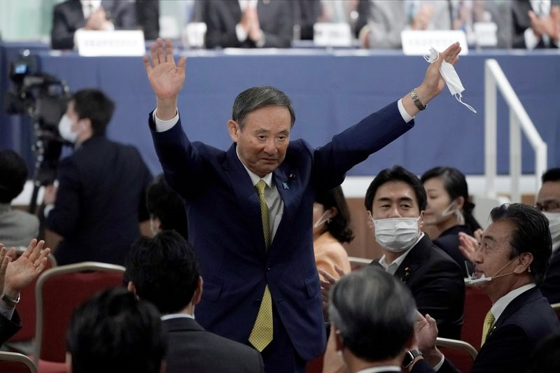 japan s suga wins party leadership race headed for premiership
