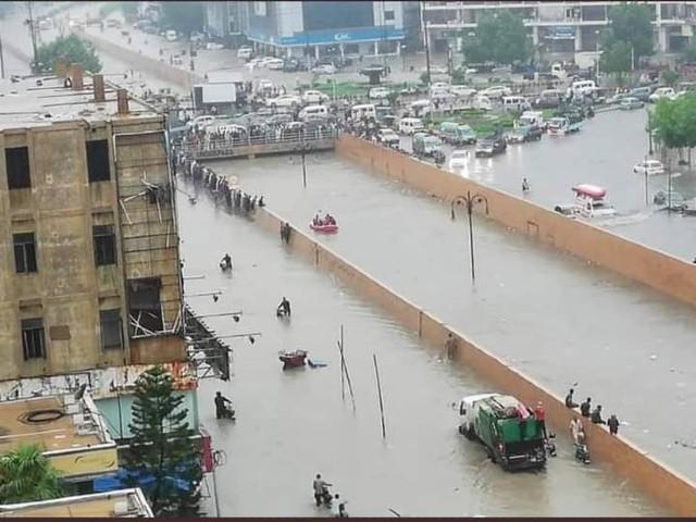 karachi flounders in rain s aftermath