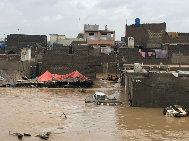 rescue operations continue after heavy rain in karachi ispr
