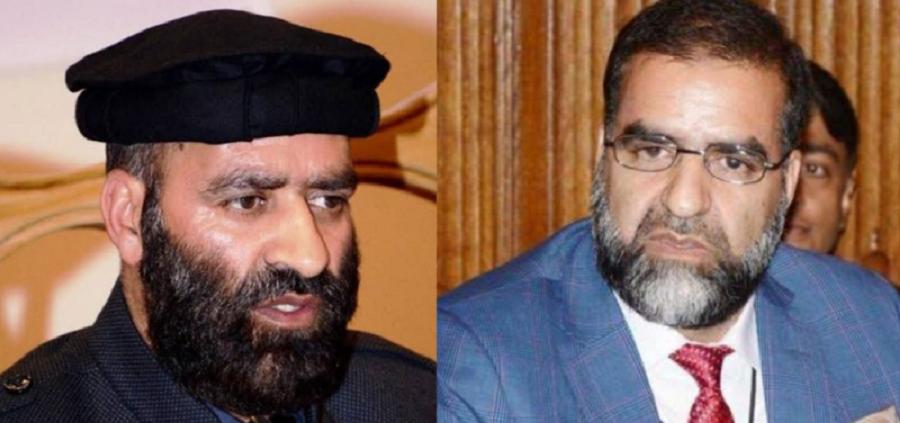 hurriyat leaders zaffar akbar bhat and altaf ahmed bhat photo express file