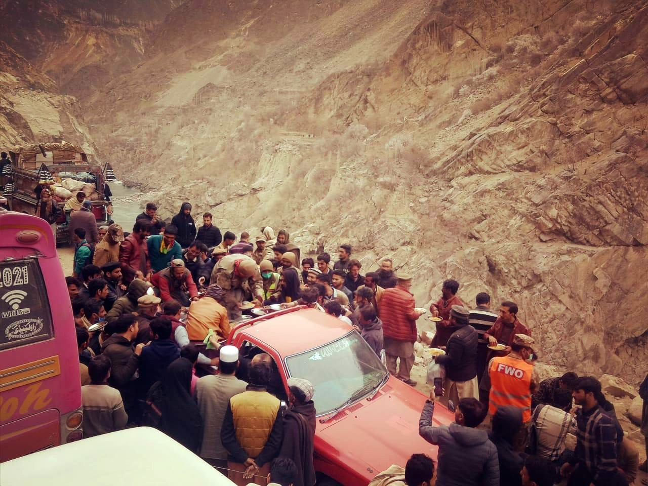 fwo troops served hot meals to all families struck due to landslide photo express
