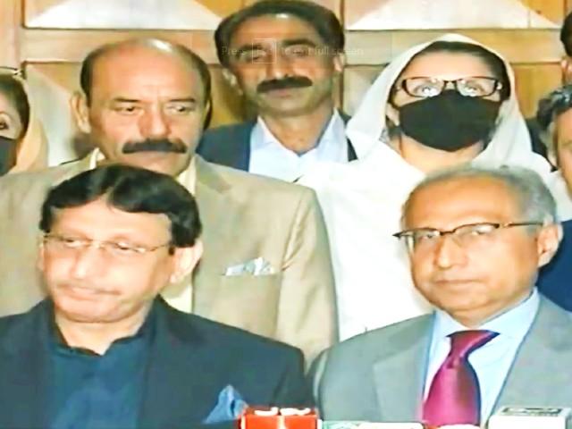 muttahida qaumi movement   pakistan mqm p leader syed aminul haque addressing a press conference in islamabad screengrab