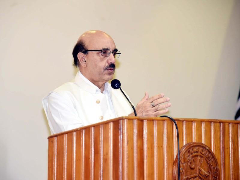 ajk president masood khan addressing a ceremony photo twitter masood khan