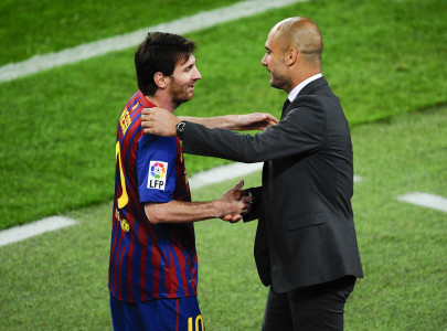 messi says lucky to have worked under guardiola