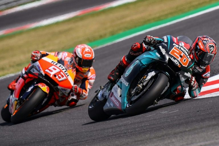 marquez absence hands opportunity to title rivals in jerez
