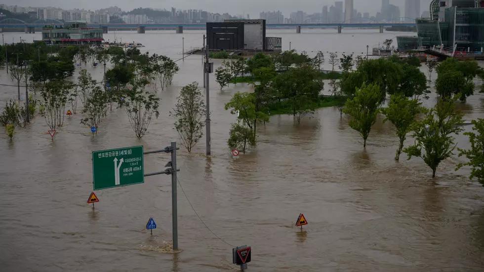 north korea on flood alert as heavy rain kills 16 in south