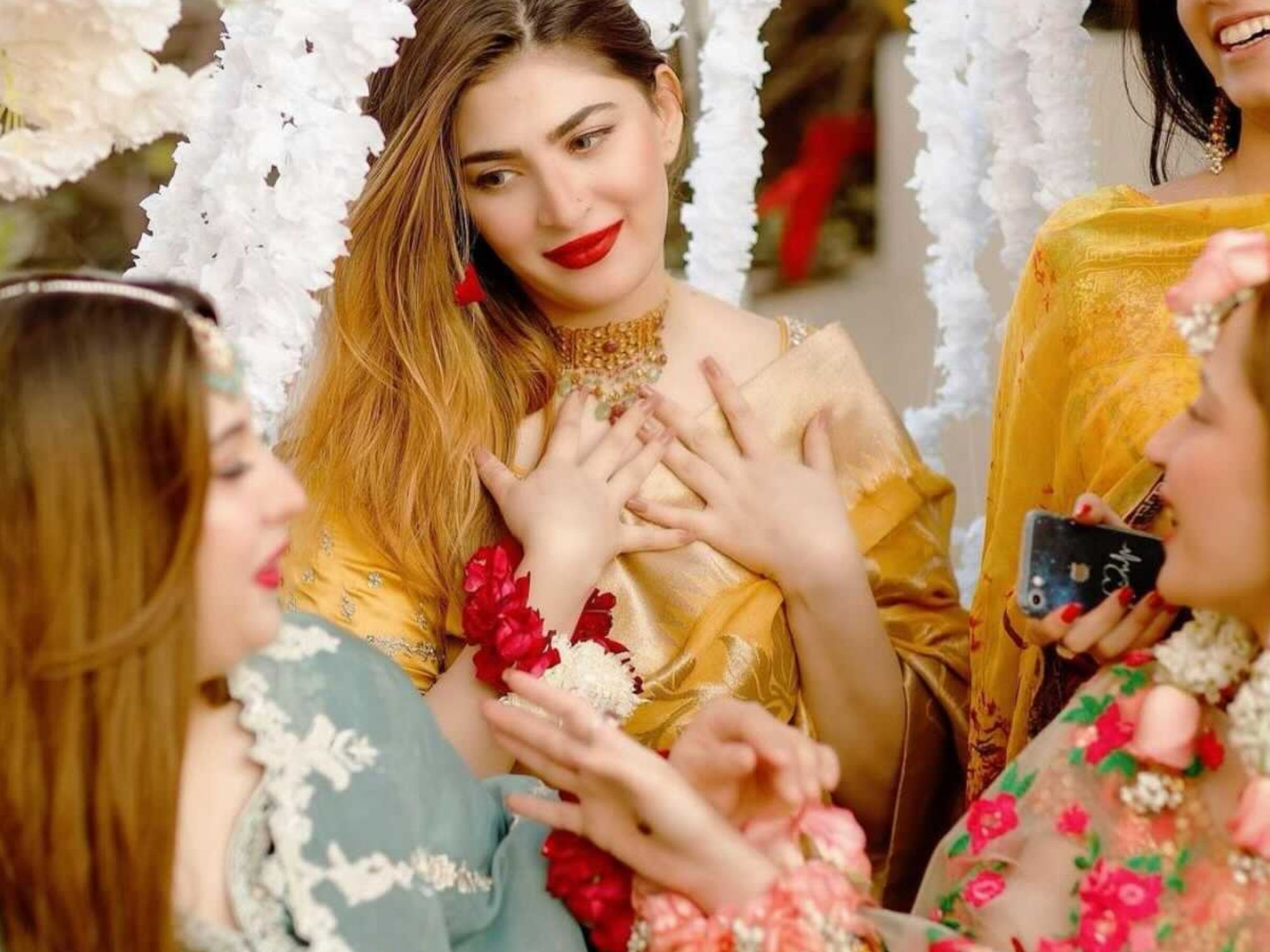 in pictures naimal khawar abbasi is a vision in mustard sari