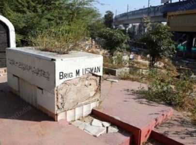 grave of india pakistan war hero brig usman vandalised in new delhi