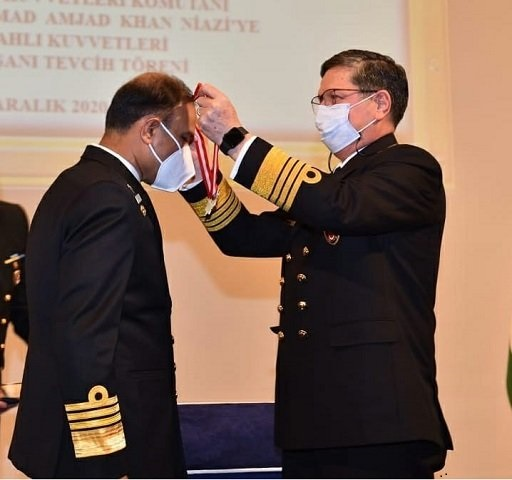 naval chief conferred with legion of merit in turkey