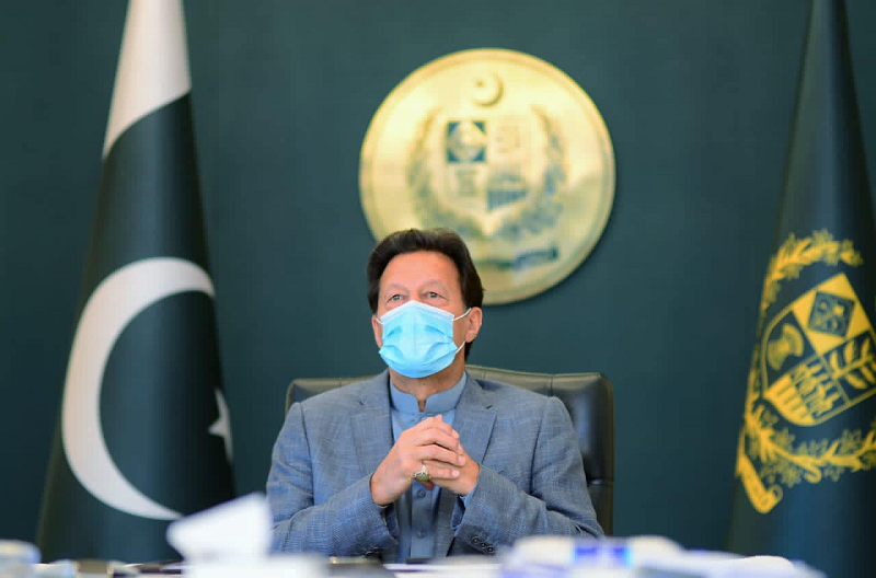 prime minister imran khan at the 10th d 8 virtual summit held on april 8 2021 photo pm office