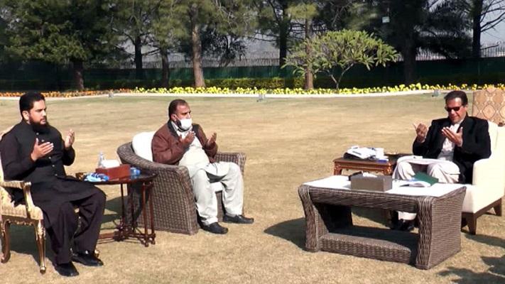 prime minister imran meets osama satti s father photo radio pakistan