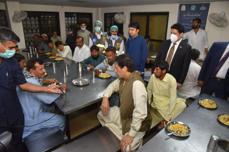 pm imran interacts with dweller of shelter home in islamabad photo express