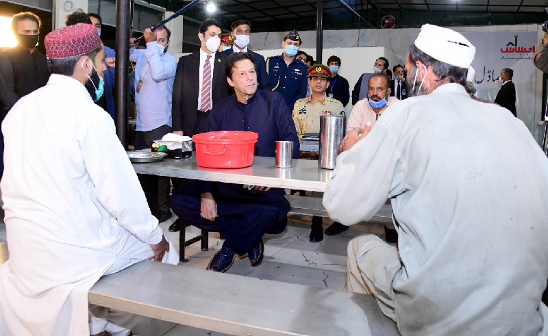 pm imran visits remodeled panagah shelter home and langar khana soup kitchen here in islamabd s sector g 9 photo twitter sanianishtar