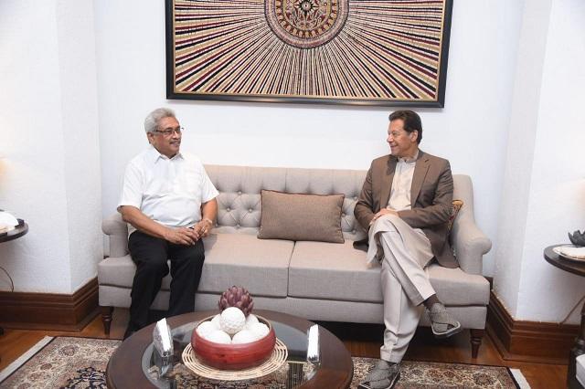 prime minister imran khan meets sri lankan president gotabaya rajapaksa at presidential secretariat in colombo on february 24 2021 photo pm office