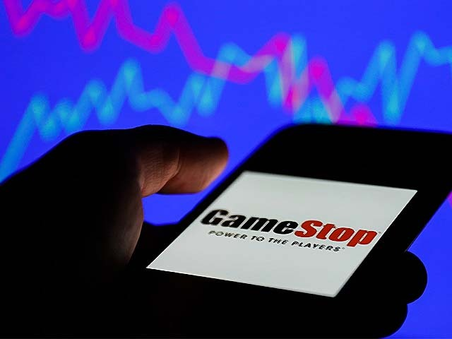gamestop logo on a mobile screen source afp