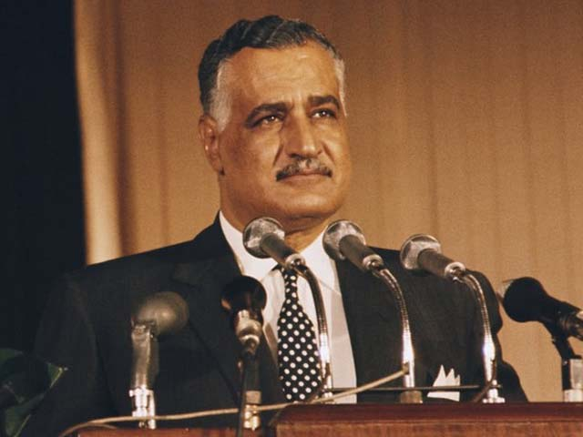 picture dated from the 1950s in cairo of egyptian president gamal abdel nasser photo afp