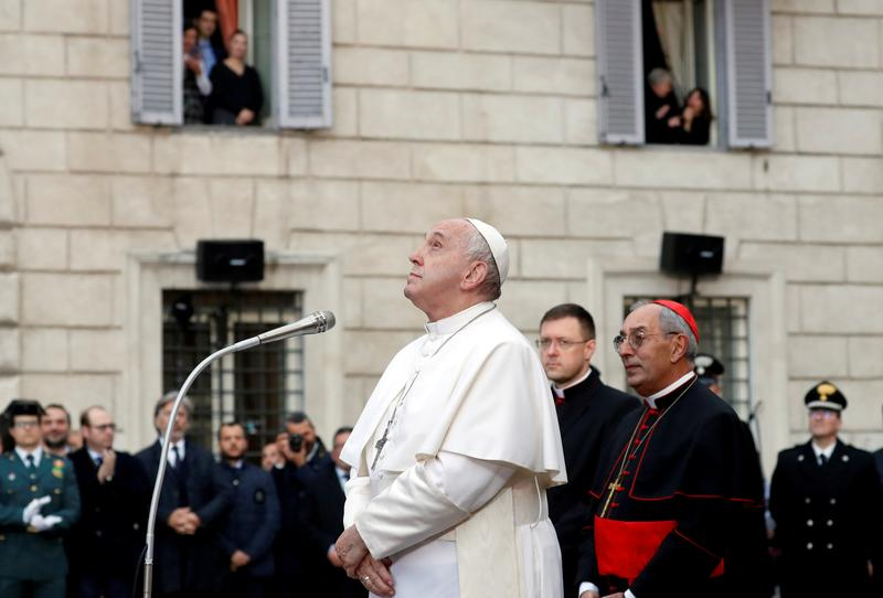 pope to skip leading new year services because of flare up of leg pain