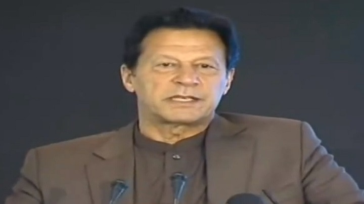 prime minister imran khan addresses a ceremony in islamabad on april 15 2021 screengrab